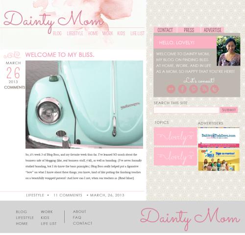 Dainty Mom study