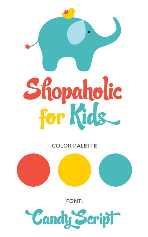 shopaholickids brand design