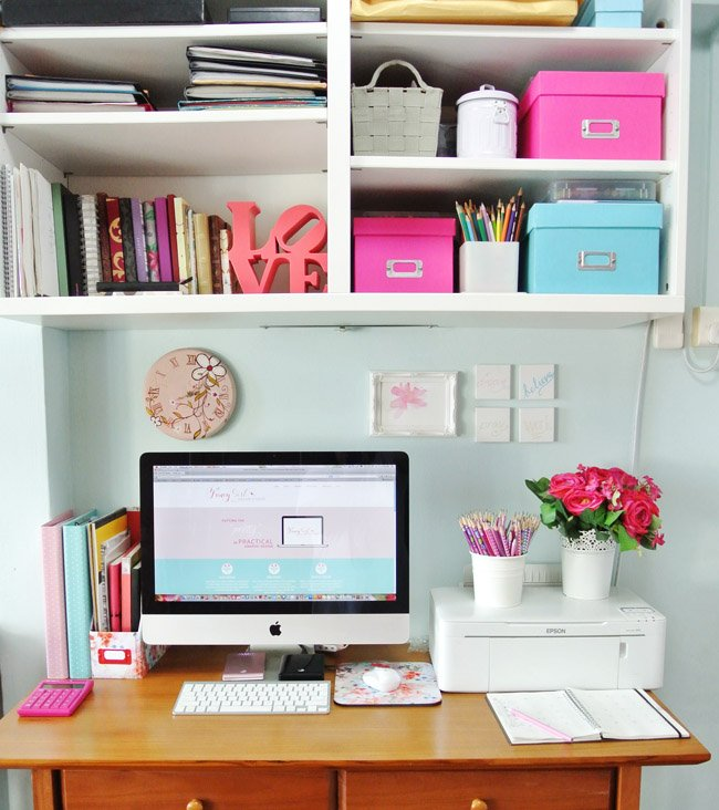 Prettifying The Home Office Fancy Girl Designs