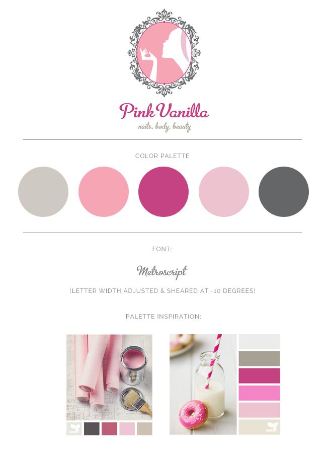 pink vanilla brand board
