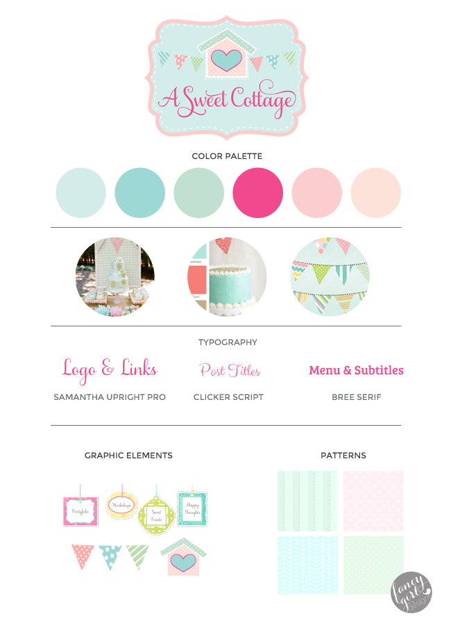 A SWEET COTTAGE BRAND BOARD