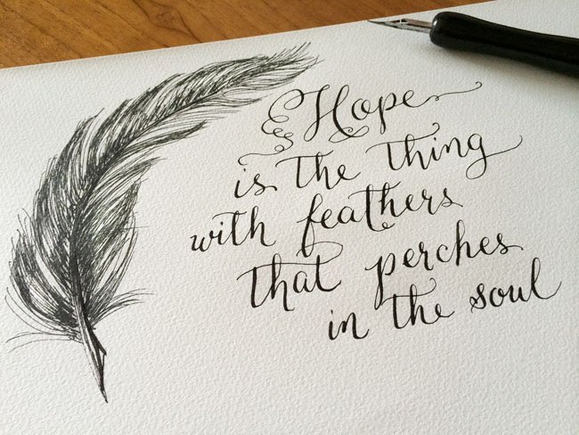 hope is actually the particular point together with feathers